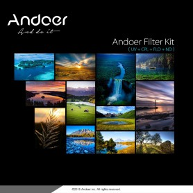 NedRo, Andoer 62mm UV+CPL+FLD+ND(ND2 ND4 ND8) Photography Filter Kit Set, Photo-video accessories, AL165, EtronixCenter.com