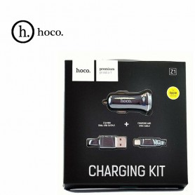 HOCO - Duo 2.1A USB car charger with Micro USB cable - Auto charger - H60423-CB www.NedRo.us