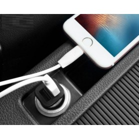 HOCO, HOCO Duo 2.4A USB car charger Premium Z12 Black, Auto charger, H60419