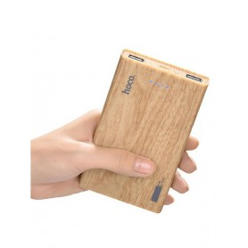 HOCO - HOCO Wood Grain 13000mAh Power Bank 2x 2.1A - Powerbanks - H60374-CB www.NedRo.us