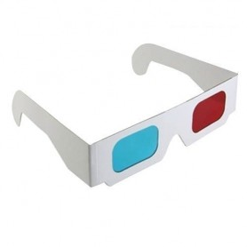 3D Red-Cyan Cardboard Paper Glasses