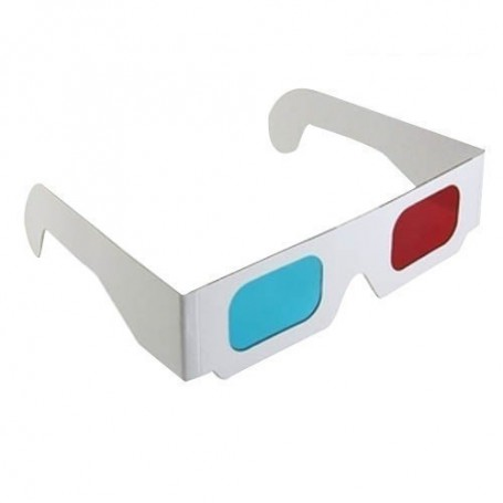 NedRo, 3D Red-Cyan Cardboard Paper Glasses, TV accessories, AL077-CB