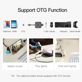 Vention - USB 2.0 Hub 4 Ports Phone Holder USB Splitter Adapter - Ports and hubs - V001-CB www.NedRo.us