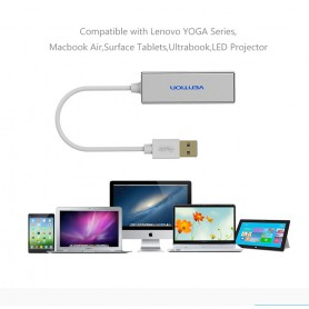 Vention, USB 2.0 - 10/100Mbps Ethernet LAN Adapter, Network adapters, V008, EtronixCenter.com