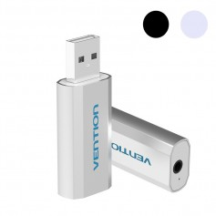 3D USB External Sound Card to 3.5mm Audio Aux Mic Adapter