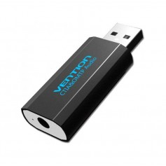 OMTP/CTIA USB External Sound Card to 3.5mm Audio Aux Mic Adapter