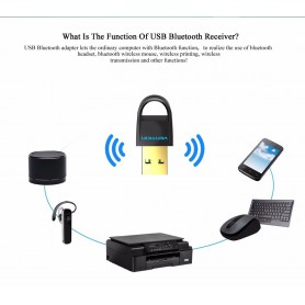 Vention - USB Bluetooth Adapter v4.0 Dual Mode CRS Audio Receiver - Wireless - V018-CB www.NedRo.us