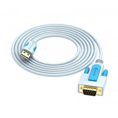Vention - USB 2.0 to DB9 RS232 Cable Serial Cable USB COM Port DB9 Pin Cable Adapter - RS 232 RS232 adapters - V023-CB
