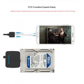 Vention - 2.5 Inch High Speed Sata to USB 3.0 for HDD SSD - SATA and ATA adapters - V029-CB www.NedRo.us