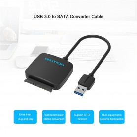 Vention, 2.5 Inch High Speed Sata to USB 3.0 for HDD SSD, SATA and ATA adapters, V029-CB