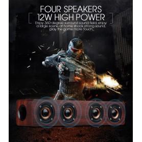 NedRo, 12W W8 Bluetooth v4.2 Speaker 3D MP3 Aux TF, Speakers, AL173-CB, EtronixCenter.com
