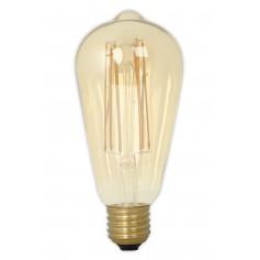 Calex - E27 LED LongFilament Rustik Lamp 240V 4W 320lm ST64, Gold 2100K Dimmable - Vintage Antique - CA0453-CB