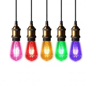 unbranded, 2 pieces Vintage E27 4W 185-240V ST64 LED Filament Glass Lamp, Vintage Antique, AL176-CB