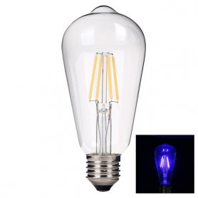 NedRo, 2 pieces Vintage E27 4W 185-240V ST64 LED Filament Glass Lamp, Vintage Antique, AL176-CB, EtronixCenter.com