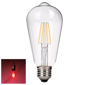 NedRo, 2 pieces Vintage E27 4W 185-240V ST64 LED Filament Glass Lamp, Vintage Antique, AL176-CB, EtronixCenter.com