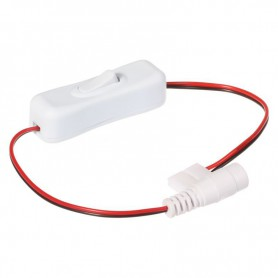 NedRo - 10mm 2-Pin Single Color LED Strip DC Female Wire Switch 12V 24V - LED Accessories - LSCC25-CB