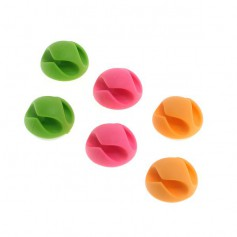 OTB - Adhesive cable holder (cable clips) 6 pieces of 3 colors - Computer gadgets - ON4998
