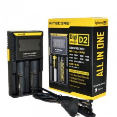 NITECORE - Nitecore Digicharger D2 for Li-ion, NiMH, Ni-Cd - Battery chargers - BS004