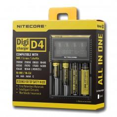 Nitecore Digicharger D4 for Li-ion, NiMH, Ni-Cd