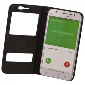 Commander - COMMANDER Bookstyle case with double window for Samsung Galaxy J7 - Samsung phone cases - ON2096-CB