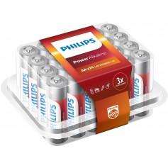 PHILIPS - 24-Pack - AAA R3 Philips Power Alkaline - Size AAA - BS017-CB