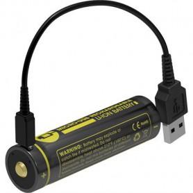 NITECORE - Nitecore USB 18650 li-ion NL1834R 3400mAh 3.6V - Size 18650 - BS020-CB www.NedRo.us