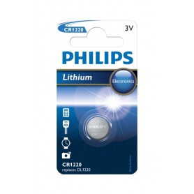 PHILIPS, Philips CR1220 lithium button cell battery, Button cells, BS021-CB