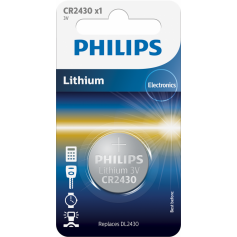 Philips CR2430 lithium button cell battery