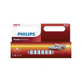 PHILIPS, 12-Pack - AAA R3 Philips Power Alkaline, Size AAA, BS031-CB, EtronixCenter.com