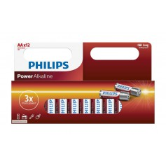 PHILIPS, 12-Pack - AA R3 Philips Power Alkaline, Size AA, BS033-CB