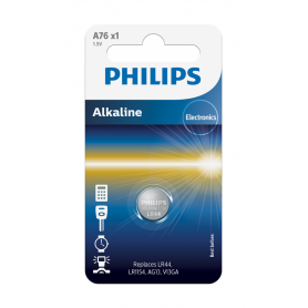 PHILIPS, Philips LR44/76A 1.5v Alkaline button cell battery, Button cells, BS036-CB