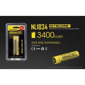 NITECORE - Nitecore 18650 li-ion NL1834 3400mAh 3.7V - Size 18650 - BS040-CB www.NedRo.us