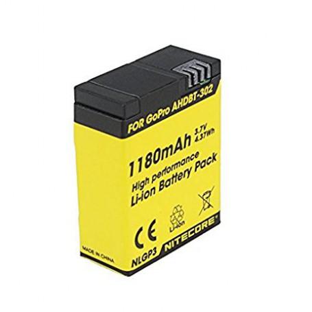 NITECORE, Nitecore NLGP3 Battery for GoPro Hero3 / Hero3+ 3.7V 1180mAh, GoPro photo-video batteries, BS041, EtronixCenter.com