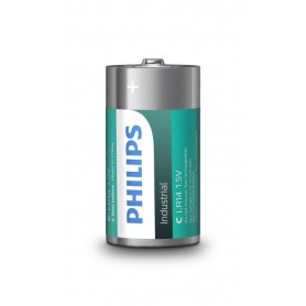 PHILIPS, Philips IndustrialC/LR14 Alkaline - 10 pieces, Size C D 4.5V XL, BS044-CB