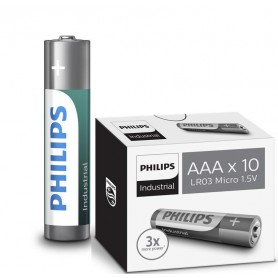 PHILIPS - AAA R3 Philips Industrial Power Alkaline - Size AAA - BS046-CB www.NedRo.us