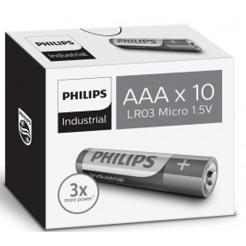 PHILIPS, AAA R3 Philips Industrial Power Alkaline, Size AAA, BS046-CB