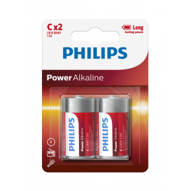 PHILIPS, Philips Power C/LR14 Alkaline, Size C D 4.5V XL, BS047-CB