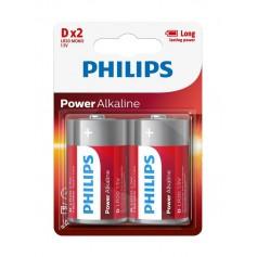 PHILIPS - Philips Power D/LR20 Alkaline - 2 pieces - Size C D 4.5V XL - BS048-CB