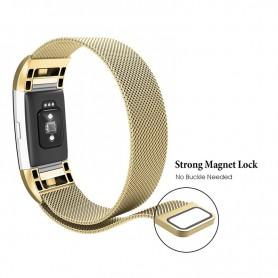 NedRo, Metal bracelet for Fitbit Charge 2 magnetic closure, Bracelets, AL188-CB, EtronixCenter.com