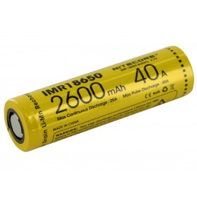 NITECORE - Dou-Pack Nitecore IMR18650 Li-ion 2600mAh 3.7V 40A - Size 18650 - BS067-CB www.NedRo.us