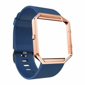 NedRo, TPU Silicone bracelet for Fitbit Blaze including metal housing, Bracelets, AL206-CB, EtronixCenter.com