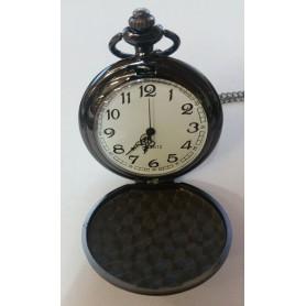 Unbranded, Fantastic Vintage Black Mirror Polished Quartz Pocket Watch AL066, Watch actions, AL066
