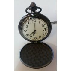 Oem - Fantastic Vintage Black Mirror Polished Quartz Pocket Watch AL066 - Watch actions - AL066