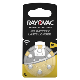 Rayovac, Rayovac Acoustic Hearing Aid Batteries 10 HA10 PR70 ZL4 105mAh 1.4V, Hearing batteries, BS079-CB