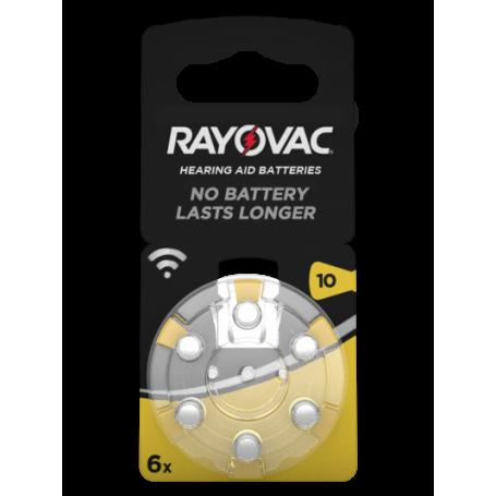 Rayovac, Rayovac Acoustic Hearing Aid Batteries 10 HA10 PR70 ZL4 105mAh 1.4V, Hearing batteries, BS079-CB