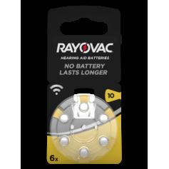Rayovac Acoustic Hearing Aid Batteries 10 HA10 PR70 ZL4 105mAh 1.4V
