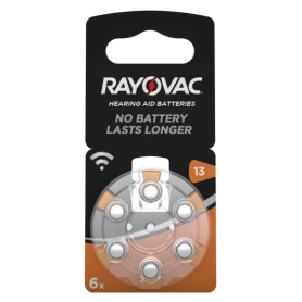 Rayovac, Rayovac Acoustic HA13 / 13 / PR48 / ZL2 310mAh 1.4V Hearing Aid Battery, Button cells, BS080-CB, EtronixCenter.com