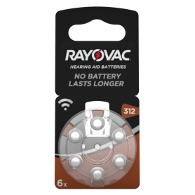 Rayovac Acoustic HA312 / 312 / PR41 / ZL3 180mAh 1.4V Hearing Aid Battery