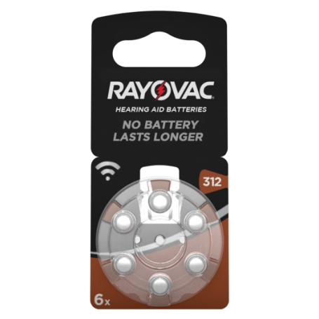 Rayovac - Rayovac Acoustic HA312 / 312 / PR41 / ZL3 180mAh 1.4V Hearing Aid Battery - Hearing batteries - BS081-CB