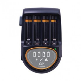 GP, 2h GP Speed Battery Charger + 4x AA 2600mAh ReCyko + 2700 Series, Battery chargers, BL216, EtronixCenter.com